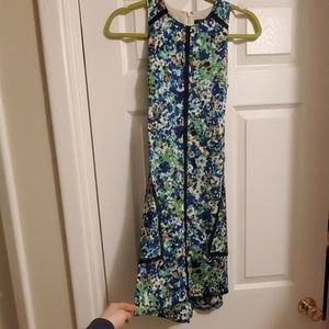 Floral Ann Taylor dress with tie back